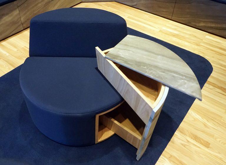 Détails du meuble sofa bar